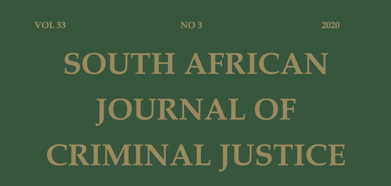 New Volume: South African Journal of Criminal Justice